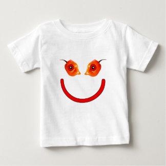 Smiley de la pimienta playera para bebé
