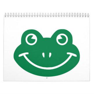 Smiley de la rana calendarios de pared