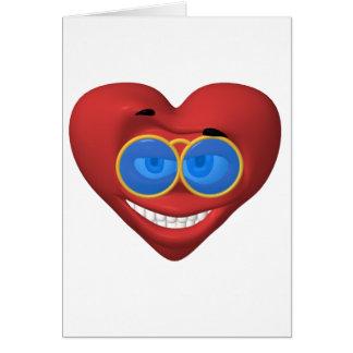 Smiley de la tarjeta del día de San Valentín que l