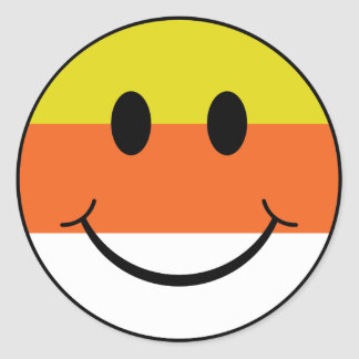 Smiley de las pastillas de caramelo pegatinas redondas