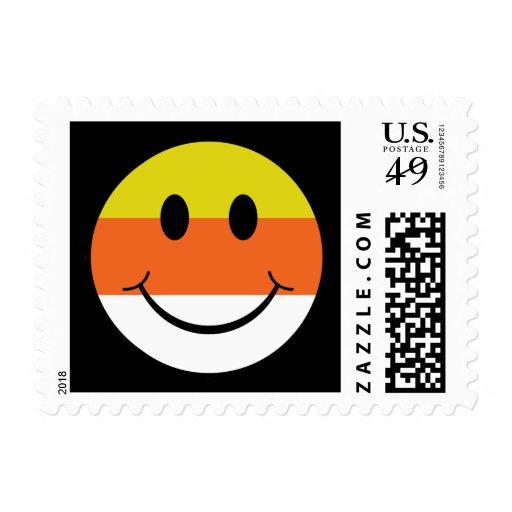 Smiley de las pastillas de caramelo timbre postal