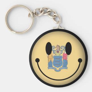 Smiley de New Jersey Llaveros Personalizados