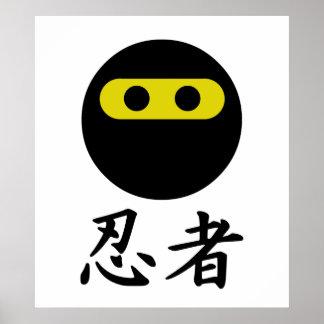 Smiley de Ninja Póster