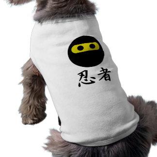Smiley de Ninja Camisetas De Perro
