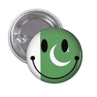 Smiley de Paquistán Pin Redondo De 1 Pulgada