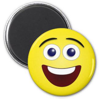 Smiley de risa 3D Imán Redondo 5 Cm