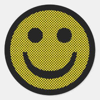 Smiley de Roy Pegatina Redonda
