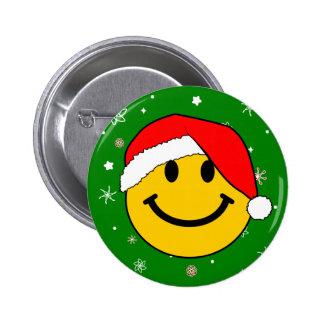 Smiley de Santa Pin Redondo 5 Cm