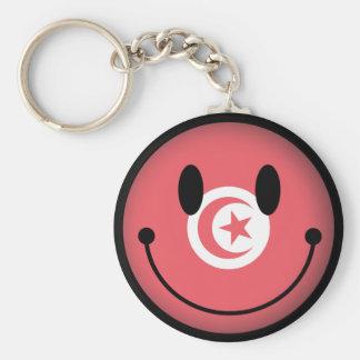 Smiley de Túnez Llavero Redondo Tipo Pin