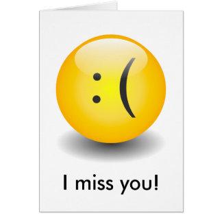 Smiley de Txt - tarjeta triste
