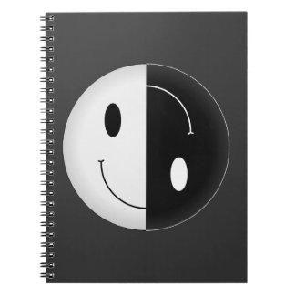 Smiley de Yin Yang Libro De Apuntes Con Espiral