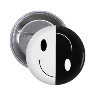 Smiley de Yin Yang Pin Redondo 5 Cm