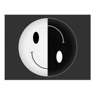 Smiley de Yin Yang Tarjeta Postal