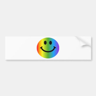 Smiley del arco iris etiqueta de parachoque