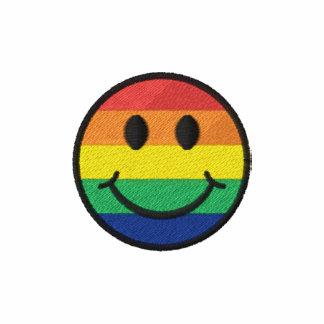 Smiley del arco iris camiseta polo