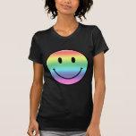 Smiley del arco iris camiseta