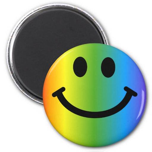 Smiley del arco iris imán