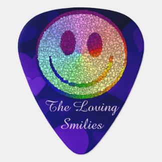 Smiley del arco iris púa de guitarra