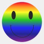 Smiley del arco iris pegatinas