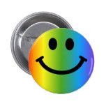Smiley del arco iris pin