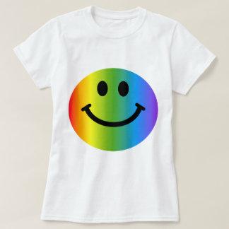 Smiley del arco iris playera