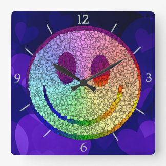 Smiley del arco iris relojes