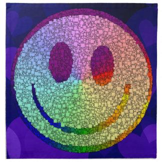 Smiley del arco iris servilletas