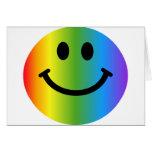 Smiley del arco iris tarjeta de felicitación