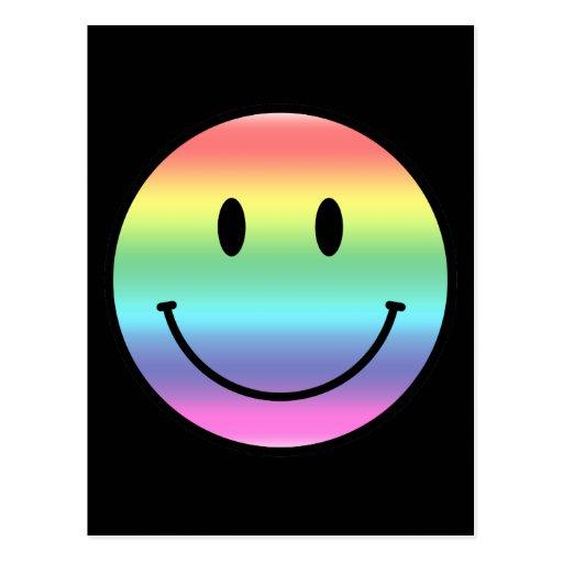 Smiley del arco iris postal