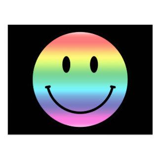 Smiley del arco iris tarjetas postales