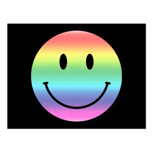 Smiley del arco iris postales