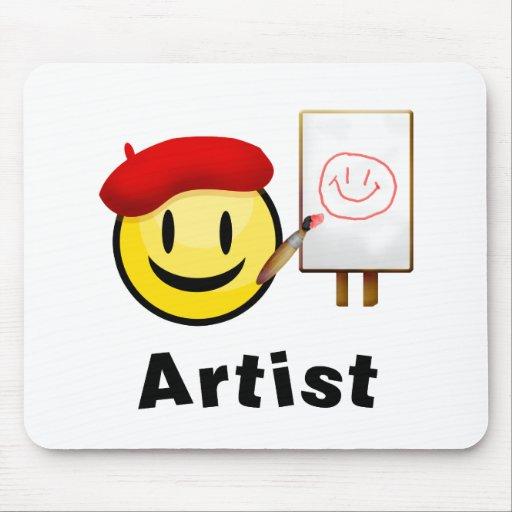 Smiley del artista alfombrilla de raton