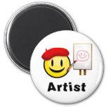 Smiley del artista imán de frigorifico