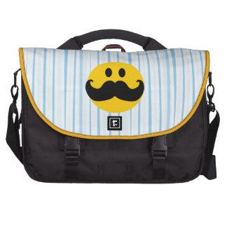Smiley del bigote bolsa para ordenador