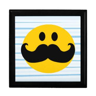 Smiley del bigote caja de joyas