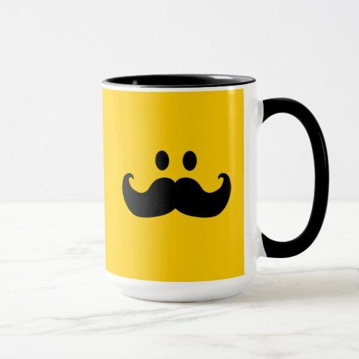 Smiley del bigote (color de fondo adaptable)