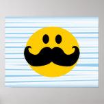 Smiley del bigote posters