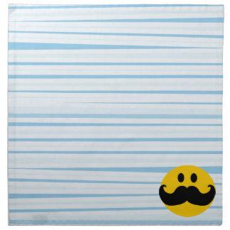 Smiley del bigote servilletas de papel