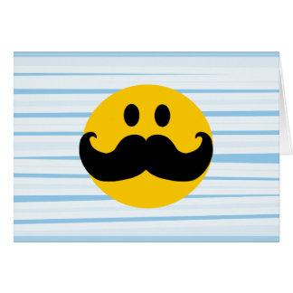 Smiley del bigote tarjetón
