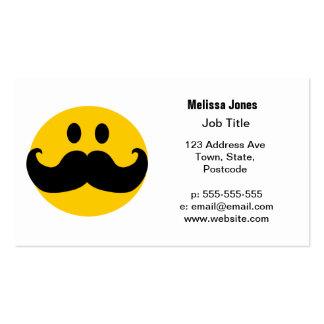 Smiley del bigote tarjetas de visita