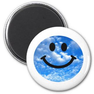 Smiley del cielo imán redondo 5 cm
