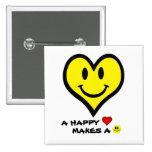 Smiley del corazón/cara feliz pins