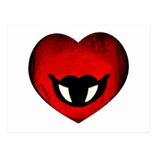 Smiley del corazón del vampiro postal