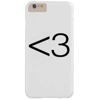 Smiley del corazón funda para iPhone 6 plus barely there