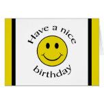 Smiley del cumpleaños felicitacion