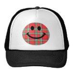 Smiley del escocés del tartán gorros