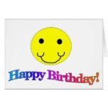 Smiley del feliz cumpleaños felicitacion