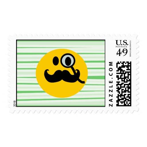 Smiley del monóculo del bigote franqueo