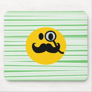 Smiley del monóculo del bigote tapetes de raton