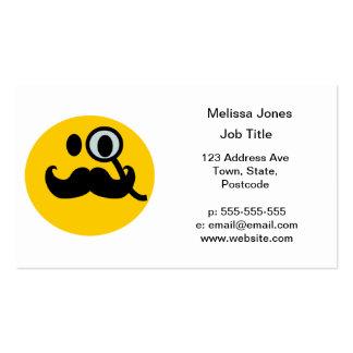 Smiley del monóculo del bigote tarjetas de visita